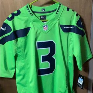 Russell Wilson NFL Color Rush Jersey Neon Green